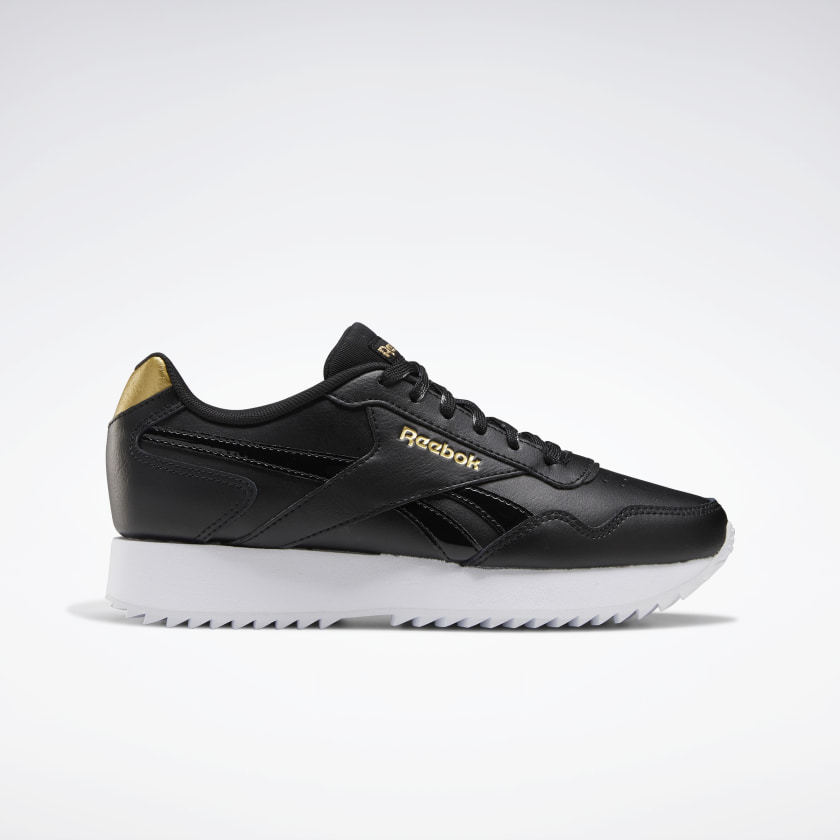 Reebok Royal Glide Ripple Double Shoes - Black | Reebok GB