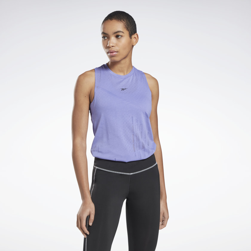 Reebok Burnout Polyester/Cotton Women's Tank Top