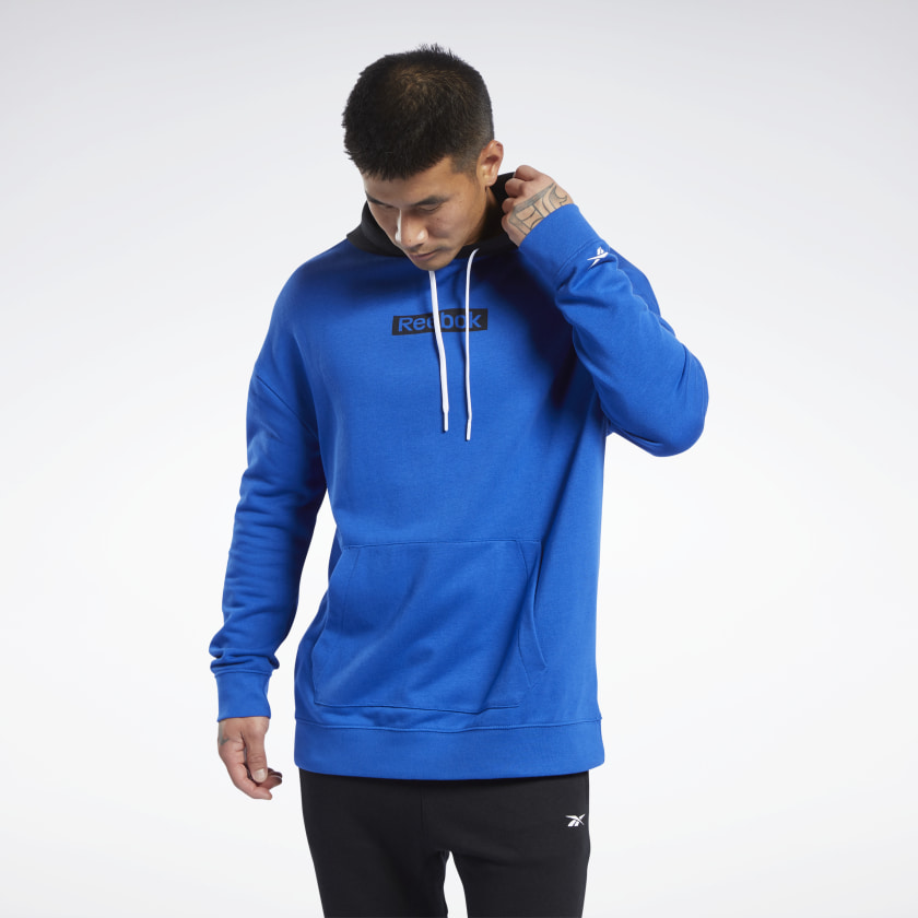 Reebok Men's Training Essentials Linear Logo Hoodie