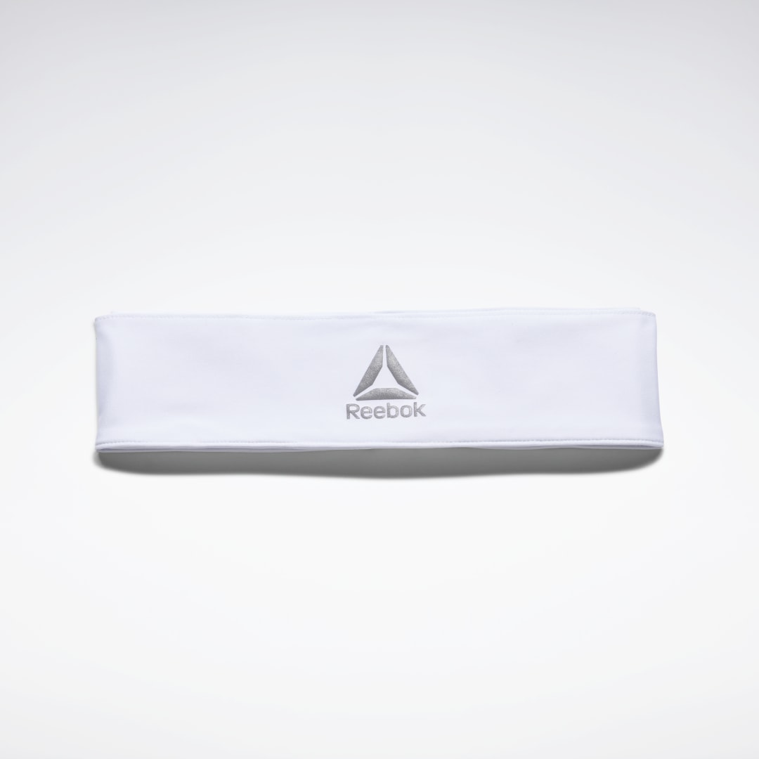 Keep your focus. This Reebok Tie Headband keeps your hair out of the way so your head\\\'s in the game. It\\\'s made for everyday gym workouts from soft elasticated fabric. Tie it in place for a personalized fit. 89% polyester / 11% elastane Designed for: Gym w