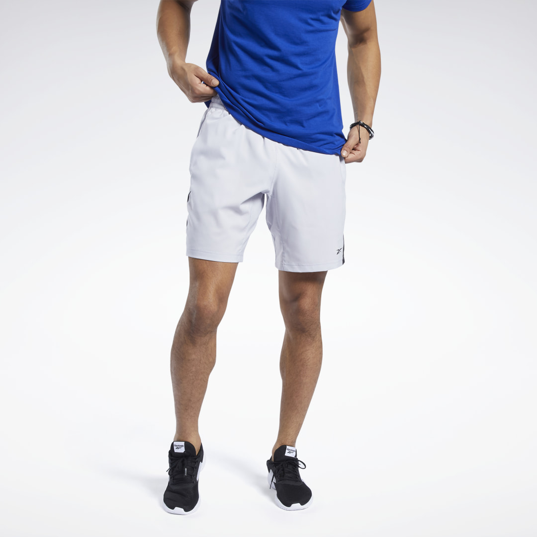Speed, endurance, power. Keep your cool as your workout amps up in these men\'s training shorts. Moisture-wicking fabric sheds sweat to keep you dry and cool. A light polyester weave and regular fit let you move as needed. 100% recycled polyester plain wea