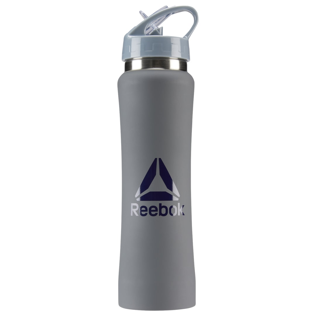Hydration is your key to fitness greatness. Keep H2O on hand with this go-everywhere bottle. The aluminum construction ensures long lasting durability, and the folding mouth piece makes sipping your fuel a cinch. Plus, the convenient carry handle adds an