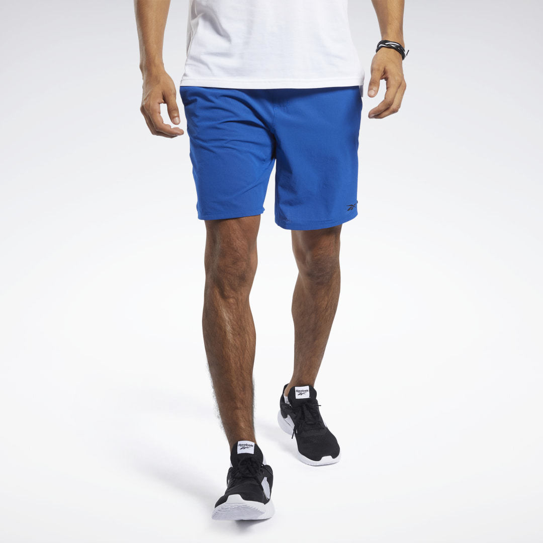 Push for new records in the weight room and on the track. These men\\\'s training shorts are made of stretchy and lightweight fabric. They have a sleek drawcord waistband that delivers a reliable fit and a side zip pocket to keep your wallet and workout note