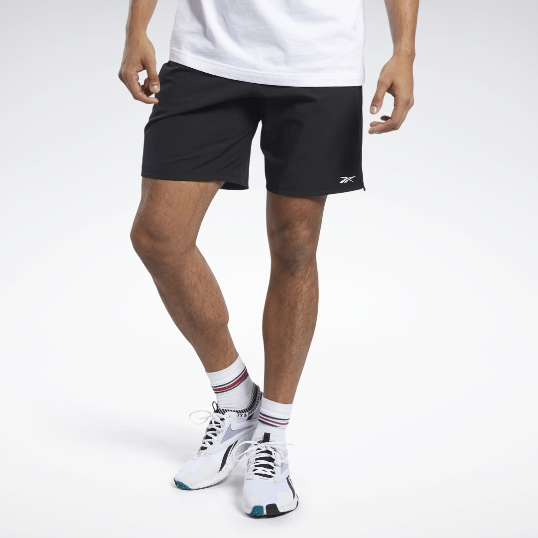Push for new records in the weight room and on the track. These men\'s training shorts are made of stretchy and lightweight fabric. They have a sleek drawcord waistband that delivers a reliable fit and a side zip pocket to keep your wallet and workout note