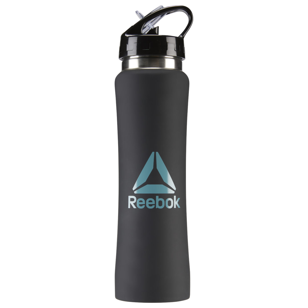 Hydration is your key to fitness greatness. Keep H2O on hand with this go-everywhere bottle. The aluminum construction ensures long lasting durability, and the folding mouth piece makes sipping your fuel a cinch. Plus, the convenient carry handle adds an easy grab-and-go element. Imported