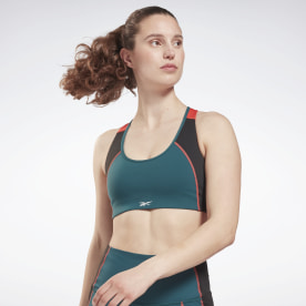 Lux Racer Padded Colorblock Sports Bra
