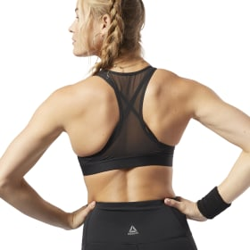 Studio Strappy Mesh Medium-Impact Bra
