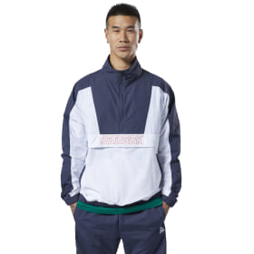 Jersey Meet You There Woven 1/2 Zip