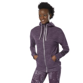 Sweat à capuche zip intégral à effet marbré Training Essentials