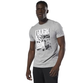 Tough As Iron T-Shirt met Ronde Hals