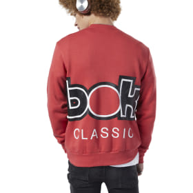 Classics International Red Button Sweatshirt
