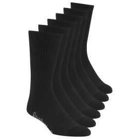 Reebok Delta Basic Crew Socks - 6 Pack