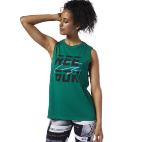 Meet You There Reebok Muscle Tanktop