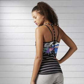 Camiseta sin Mangas Yoga Striped