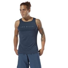 053749a00f7157 Men Studio. LES MILLS® Perforated Tank Top · LES MILLS® Running ACTIVCHILL  Singlet