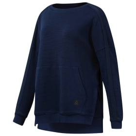 Combat Washed Ribbed Crewneck Sweatshirt