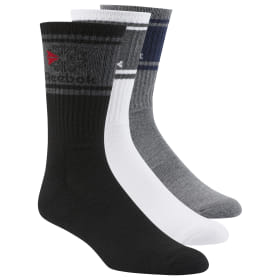 Reebok Performance Crew Cushioned Sport Socks 3 Pack Clothing, Shoes & Accessories Fitness, Running & Yoga