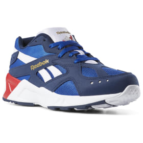 Men Blue Retro Running Shoes Reebok Us