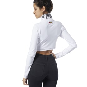 Reebok by Pyer Moss Crop Mock Tee