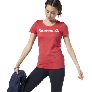 REEBOK LINEAR READ SCOOP NECK Rebel Red EC2050