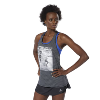 Running Essentials Mesh Tank Top Black DU4226