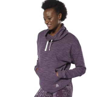 Sweat marbré à col boule Training Essentials Urban Violet DU4908