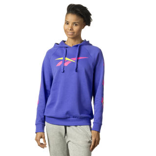 Bold Cropped Hoodie Purple DQ0072