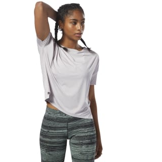 Perforated T-shirt Lavender Luck D94135
