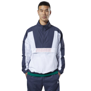 Jaqueta Meet You There Woven 1/2 Zip Heritage Navy DY7777