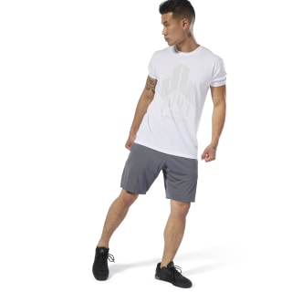Short de training en maille Dark Grey Heather DW5220