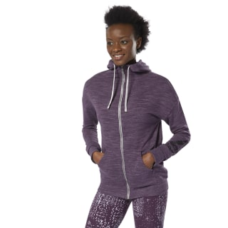 Training Essentials Marble Full-Zip Hoodie Urban Violet DU4898