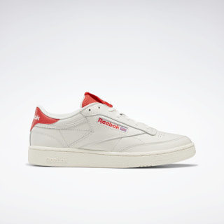 Club C 85 Shoes Chalk / Radiant Red / Humble Blue EF3251