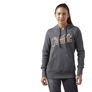 Reebok CrossFit Script Hoodie Dark Grey Heather CF5736