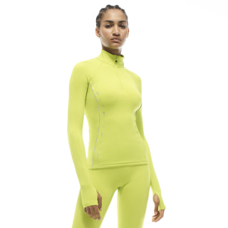 Camiseta VB Half-Zip Running Semi Solar Yellow FQ2932