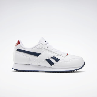 Reebok Royal Glide Ripple Shoes White / Legacy Red / Collegiate Navy FU7674