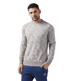 Training Essentials Delta Crew Neck Sweatshirt Medium Grey Heather CE3921
