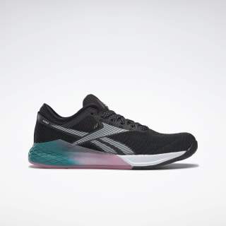 Reebok Nano 9 Women's Training Shoes Black / Seaport Teal / Posh Pink FU7574