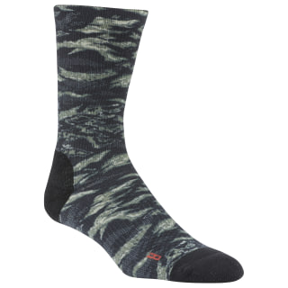 CrossFit® Printed Crew Socks Black DU2950