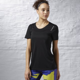 Running Essentials T-shirt met Korte Mouwen Black AX9417
