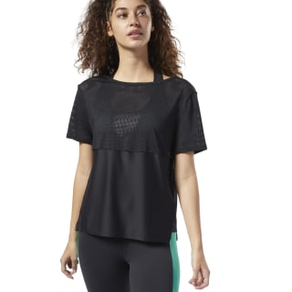 Perforated Performance Tee Black DY8167