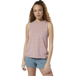 Training Essentials Marble Tank Top Smokey Rose DU9268
