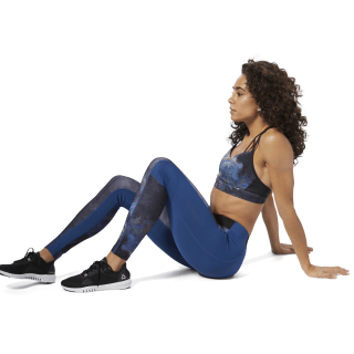 Compression Tights - Oil Slick Bunker Blue D93890