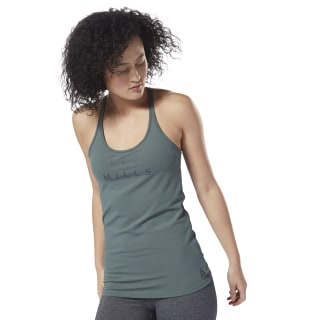 Camiseta LES MILLS® Long Bra Chalk Green DJ2215