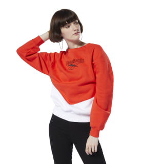 Sweat Classics Vector à col rond Canton Red / White DT7200