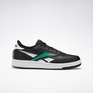 Club C Shoes - Grade School Black / White / Emerald EG0009