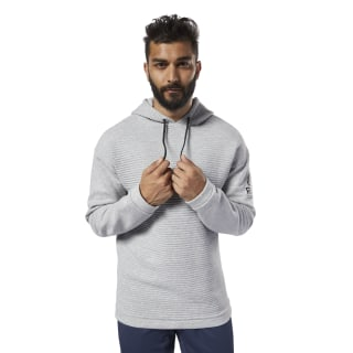 Workout Ready Fleece Hoodie Medium Grey Heather EC0871