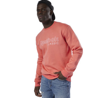 Classics Fleece Crew Reebok Sweatshirt Bright Rose DT8138