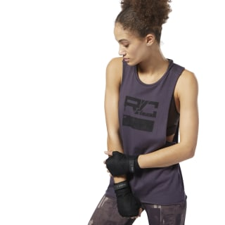 Combat Wordmark Tank Purple D96015