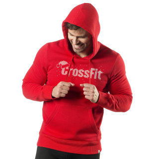 Reebok CrossFit Holiday Hoodie Primal Red DY2426