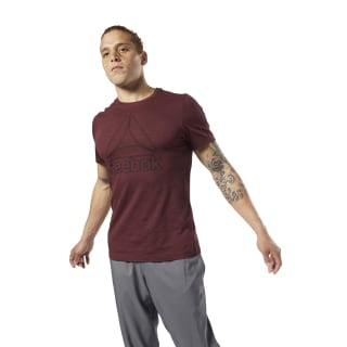 Remera Training Essentials Marble Melange Lux Maroon DY7772